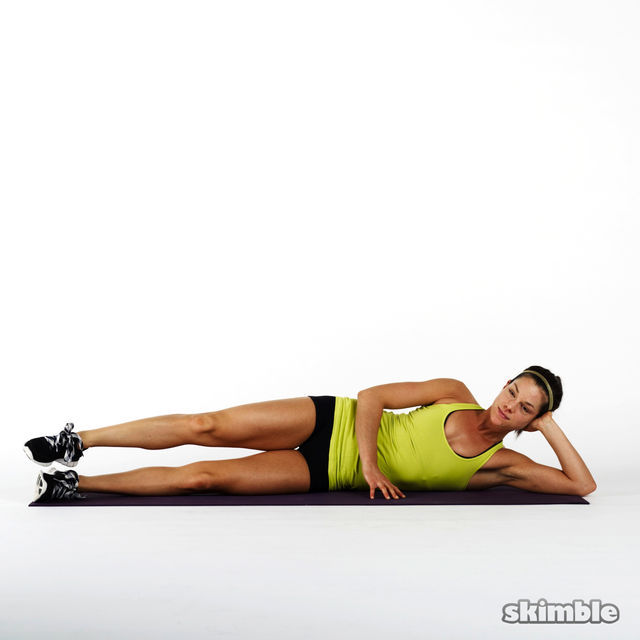 How to do: Lying Right Leg Back Circles - Step 1