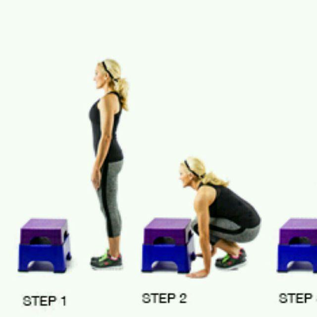 How to do: Burpee To Box Jump - Step 1
