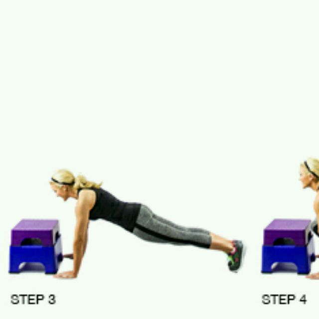 How to do: Burpee To Box Jump - Step 2