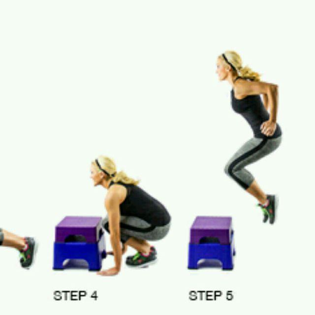 How to do: Burpee To Box Jump - Step 3