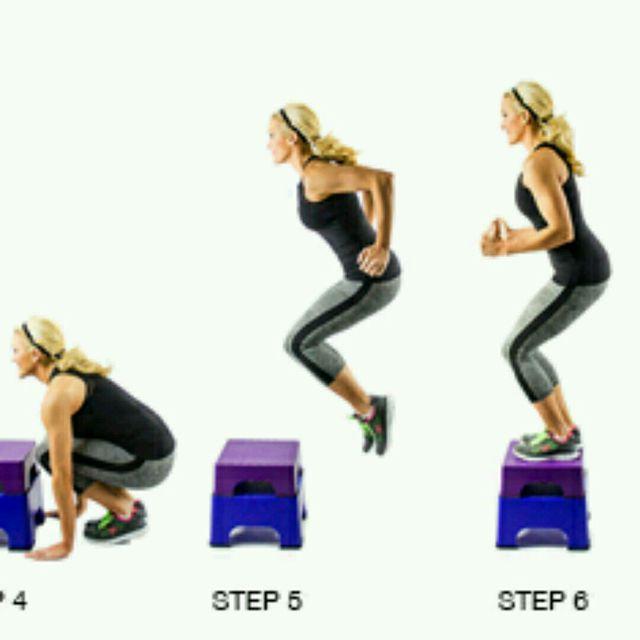 How to do: Burpee To Box Jump - Step 4