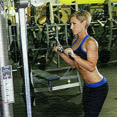 Extensiones de Tríceps en polea alta 4 discos