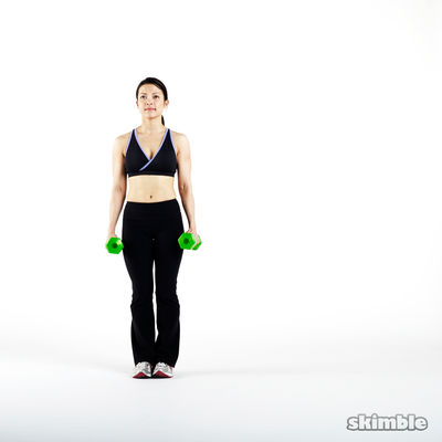 5 Dumbbell Side Lunges with Hammer Curls