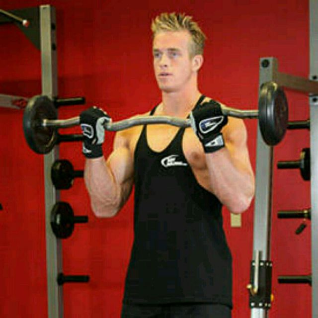 How to do: Wide-Grip EZ Bar Curl - Step 1