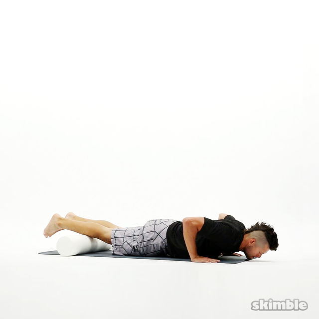 How to do: Shin Rolls with Push-Ups - Step 3