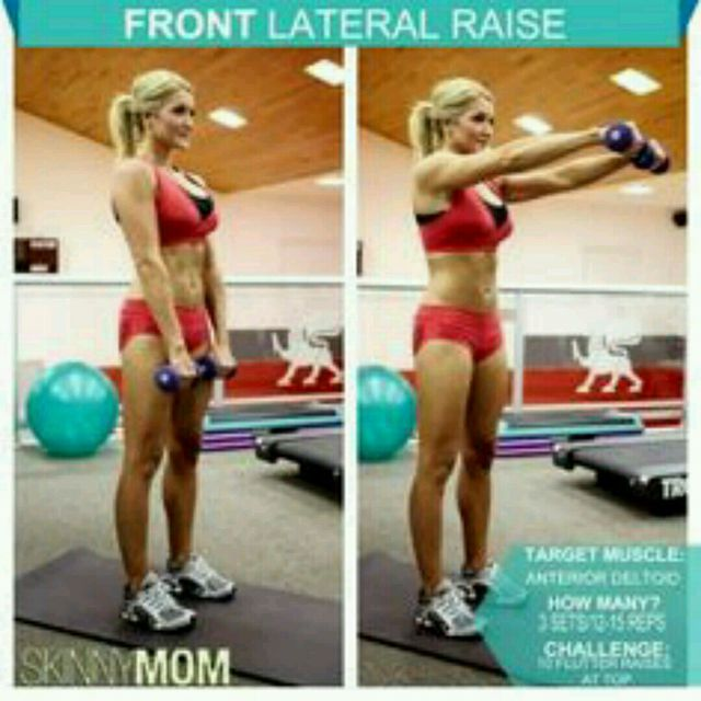 How to do: Front Lateral Raise - Step 1