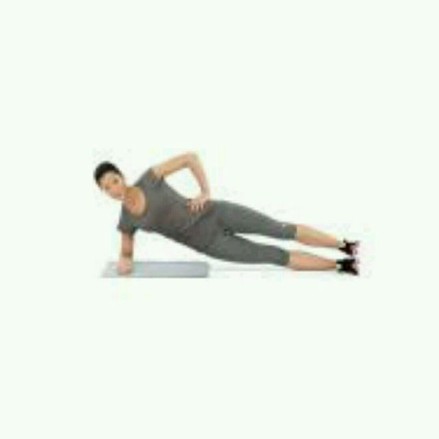 How to do: Side Plank w Leg Lift - Step 1