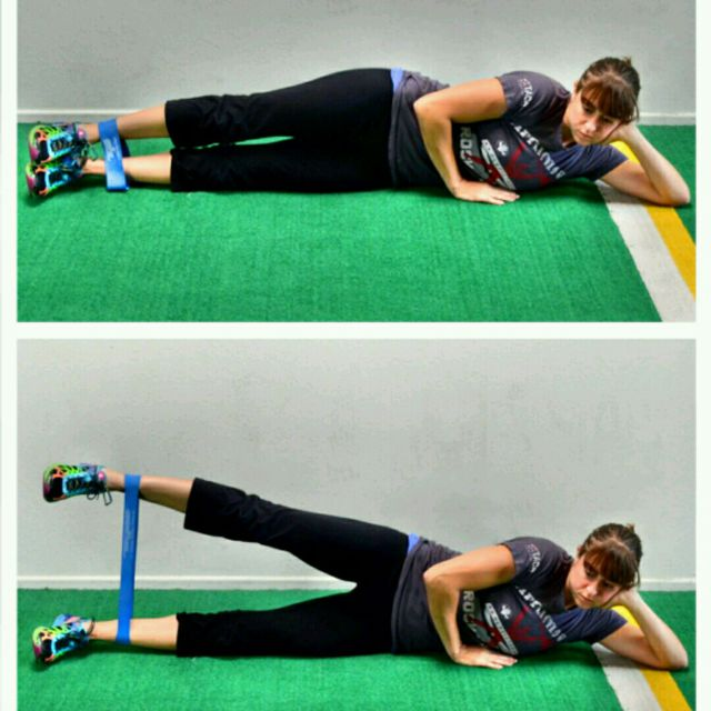 How to do: 7-Lying Abductor Lift - Step 1