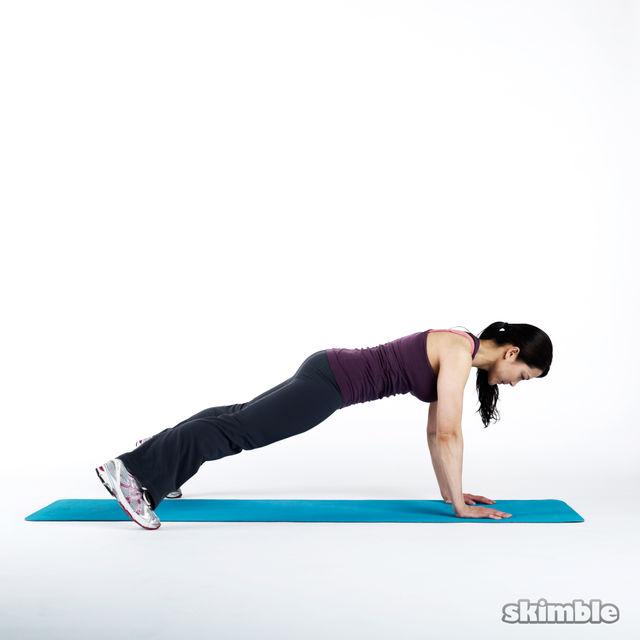 How to do: Plank Hop Outs - Step 3