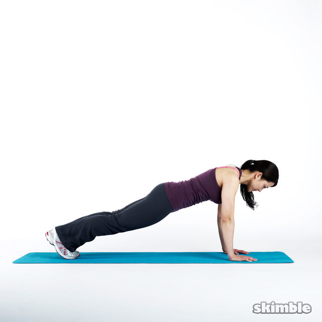 How to do: Plank Hop Outs - Step 1