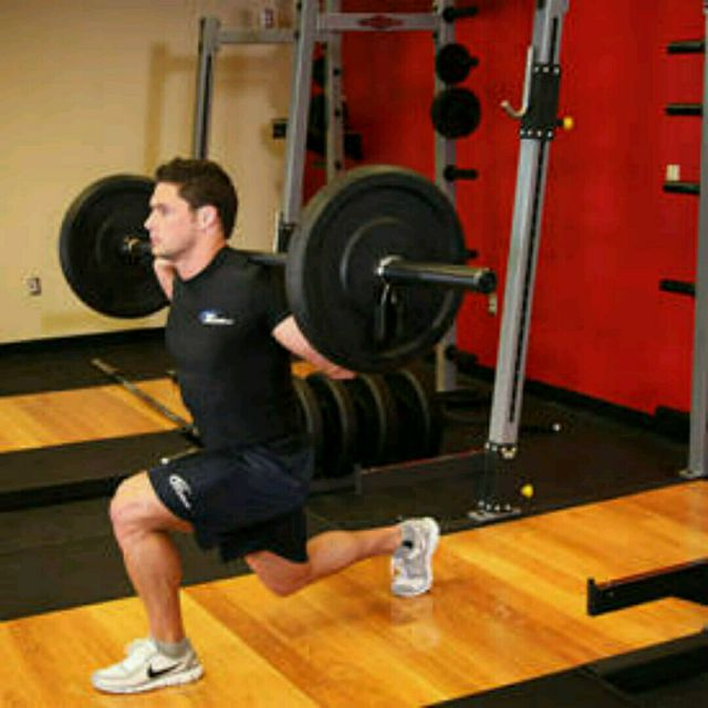 How to do: Barbell Lunge - Step 1