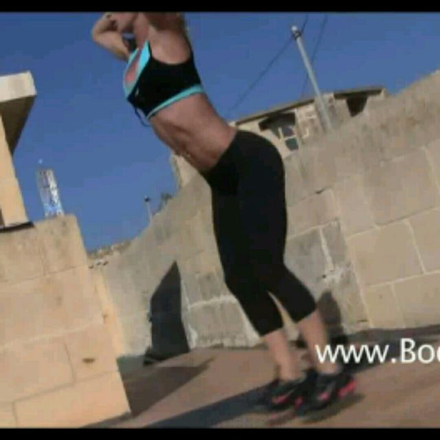 How to do: Jump Lunges - Step 2
