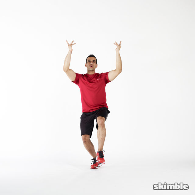 How to do: Hopping Hand Twists - Step 2