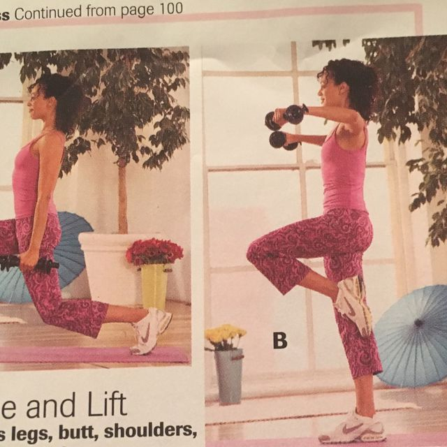 How to do: Lunge And Lift - Step 1