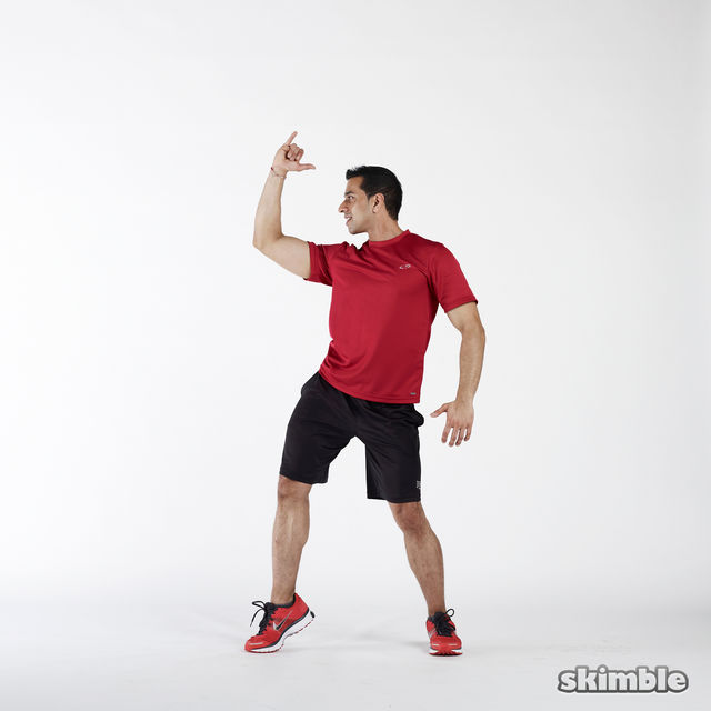 How to do: Elbow to Hip Side Thrusts - Step 5