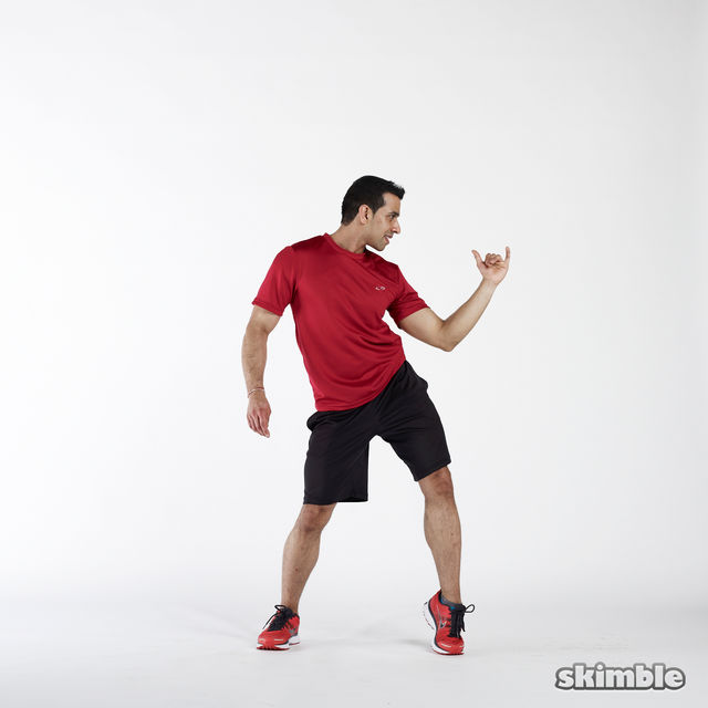 How to do: Elbow to Hip Side Thrusts - Step 3
