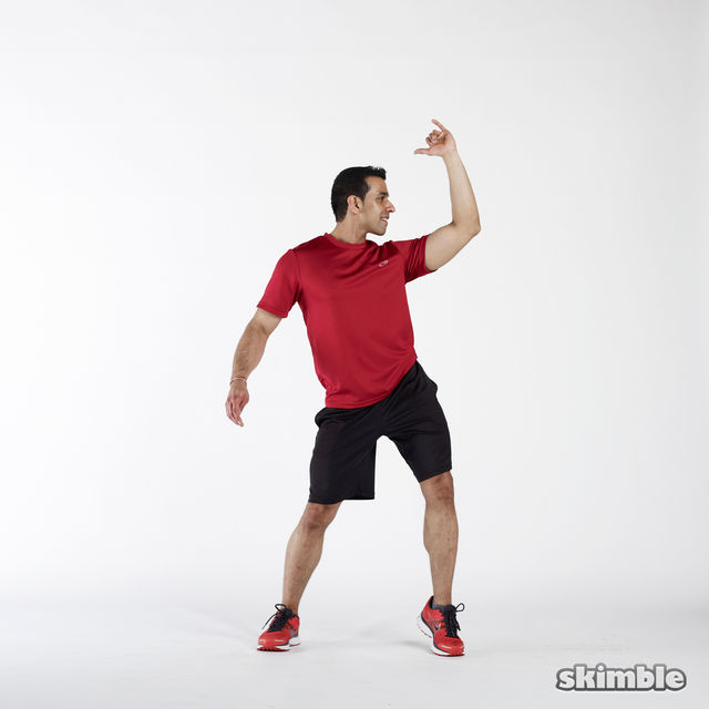 How to do: Elbow to Hip Side Thrusts - Step 2