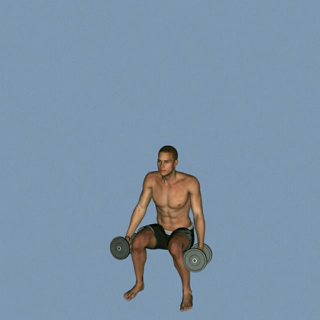 How to do: DB Clean To Press To Calf Raise - Step 2