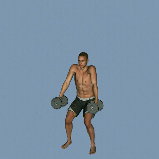 How to do: DB Clean To Press To Calf Raise - Step 3