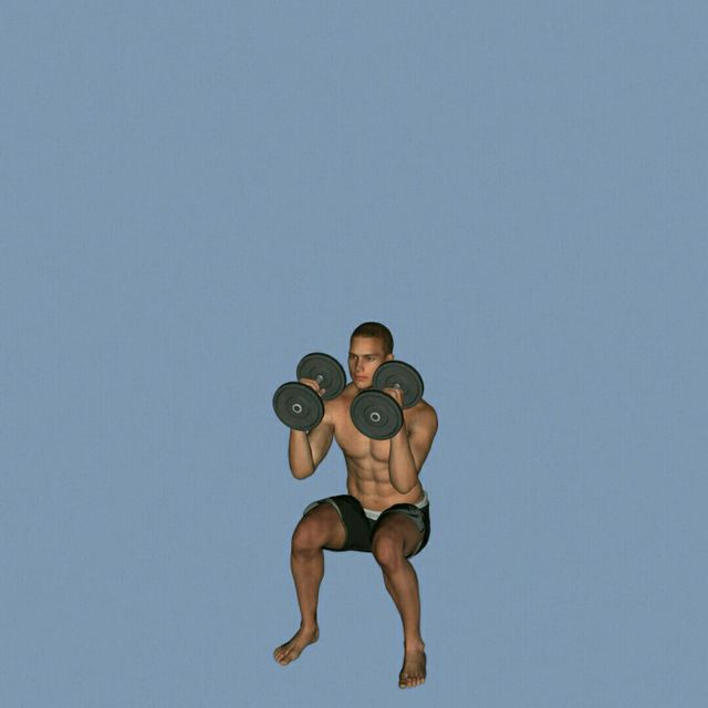 How to do: DB Clean To Press To Calf Raise - Step 4