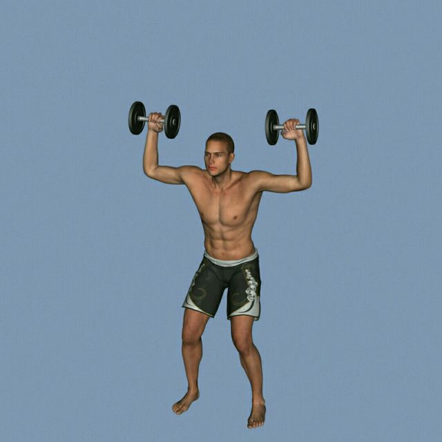How to do: DB Clean To Press To Calf Raise - Step 5