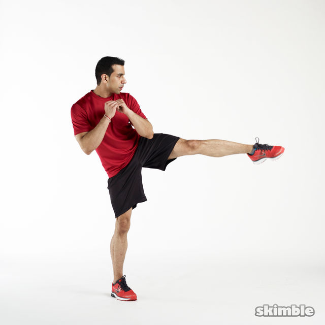 How to do: Left Foot Taps - Step 2