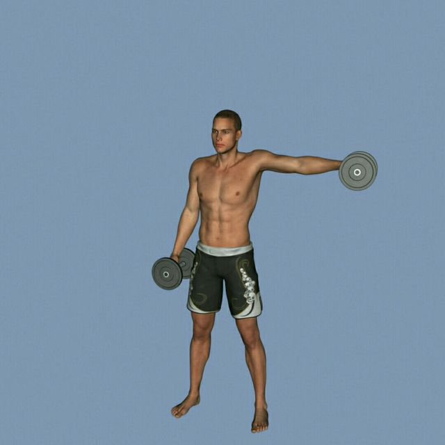 How to do: DB Alternating Front To Side Raise - Step 3