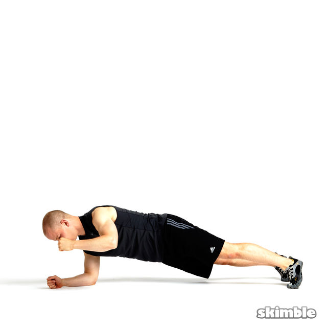 How to do: Rotating Elbow Plank - Step 8