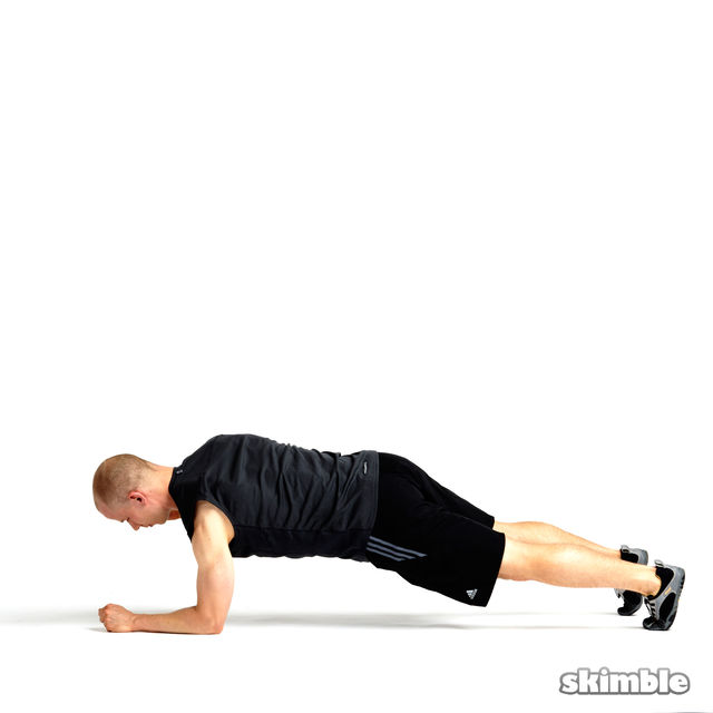 How to do: Rotating Elbow Plank - Step 6