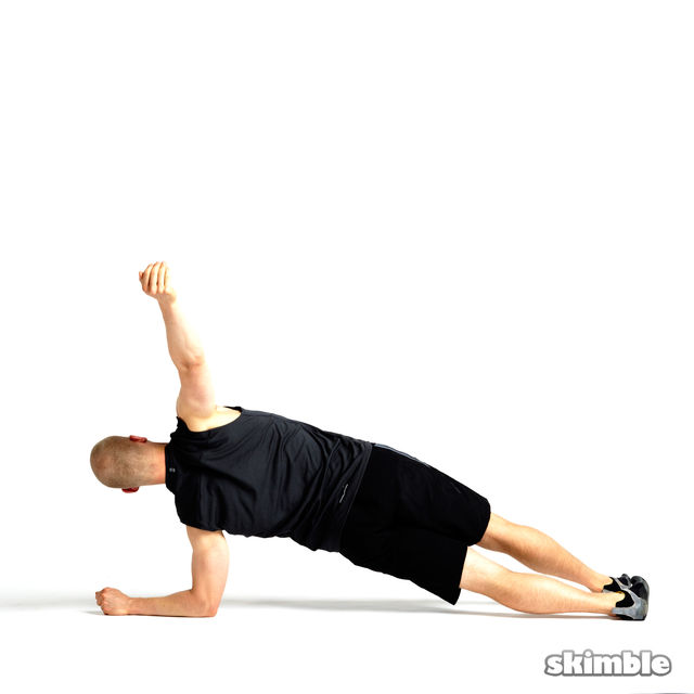 How to do: Rotating Elbow Plank - Step 5