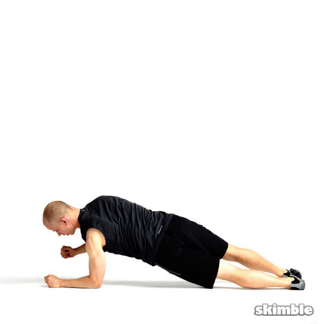 How to do: Rotating Elbow Plank - Step 4
