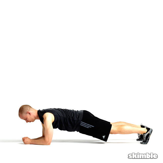 How to do: Rotating Elbow Plank - Step 3