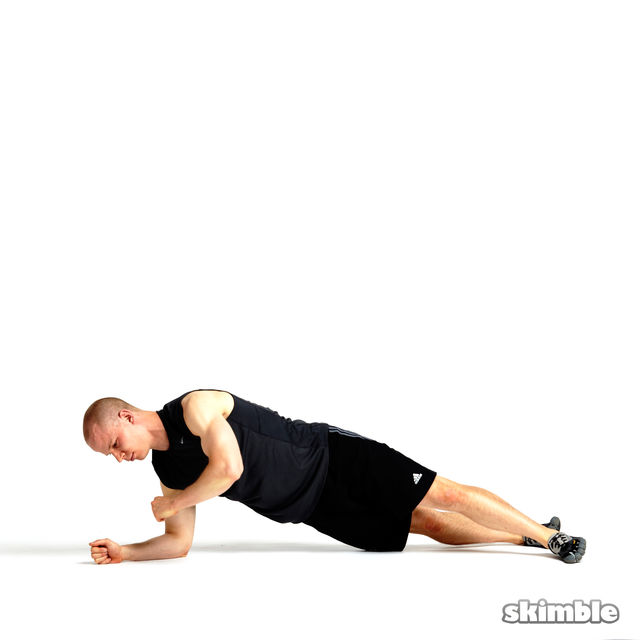How to do: Rotating Elbow Plank - Step 2