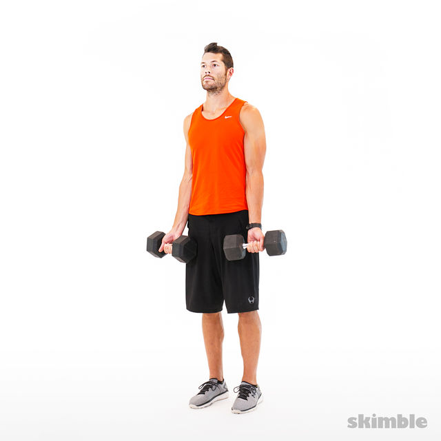 How to do: Bicep Curls - Step 1