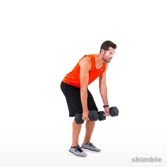 How to do: Alternating Bent Over Rows - Step 3