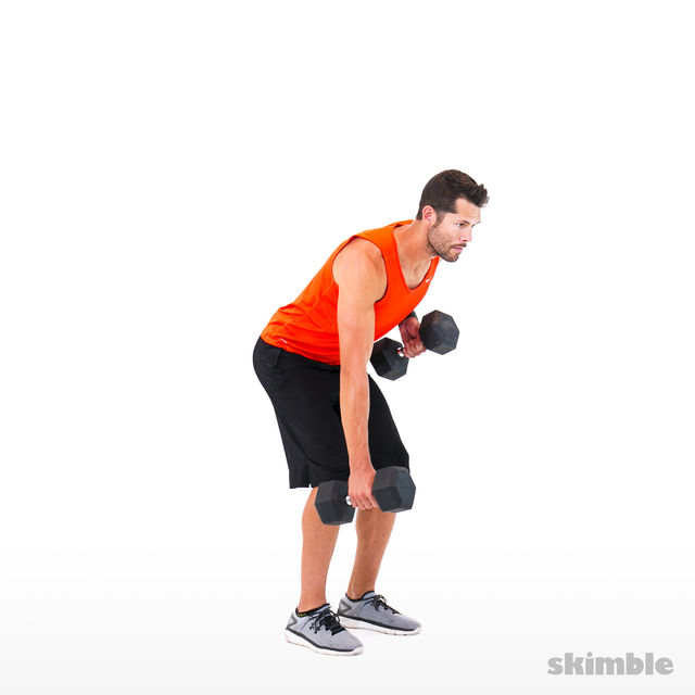How to do: Alternating Bent Over Rows - Step 2
