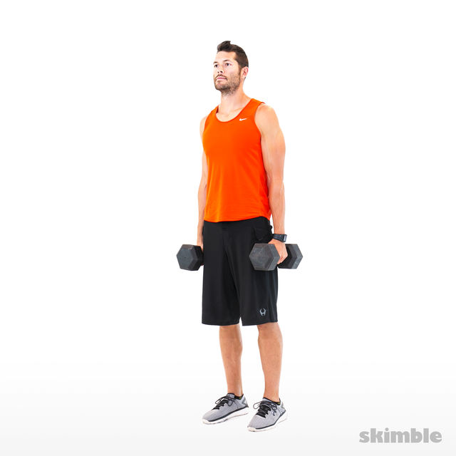 How to do: Alternating Hammer Curls - Step 1