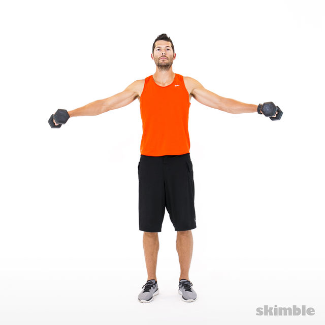 How to do: Lateral to Front Raises - Step 2