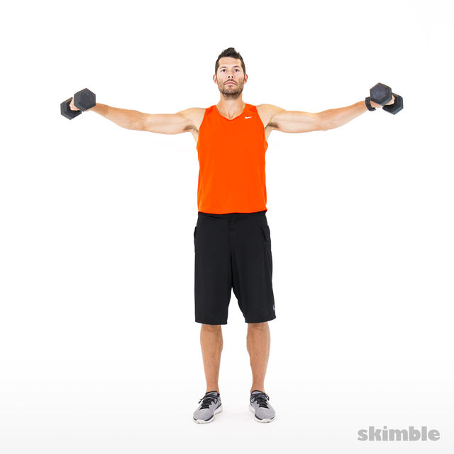 How to do: Lateral to Front Raises - Step 3