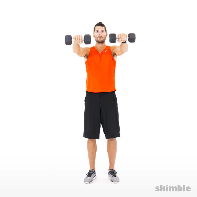 How to do: Lateral to Front Raises - Step 4