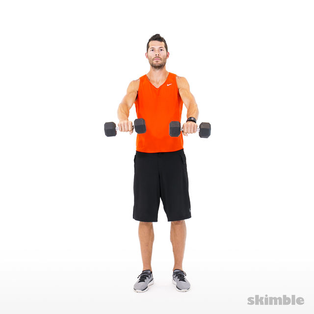 How to do: Lateral to Front Raises - Step 5