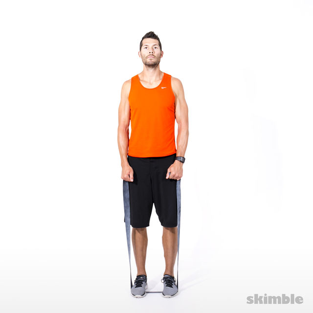 How to do: Left Leg Lateral Raise with Band - Step 1