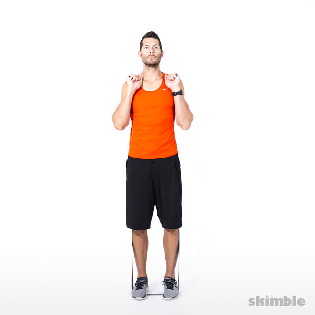 How to do: Left Leg Lateral Raise with Band - Step 2