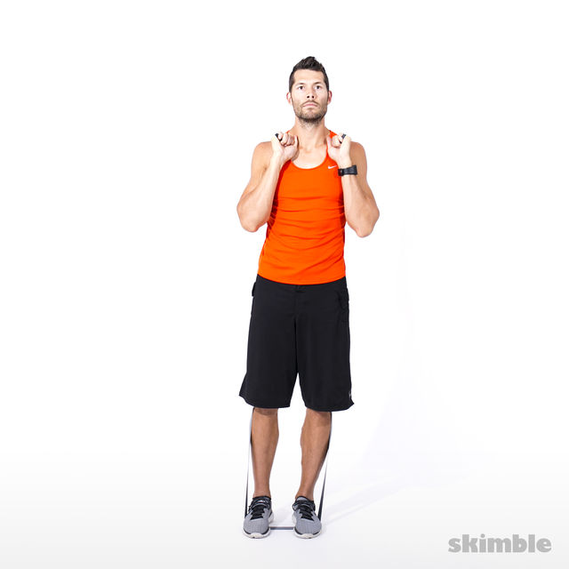How to do: Right Leg Lateral Raise with Band - Step 3