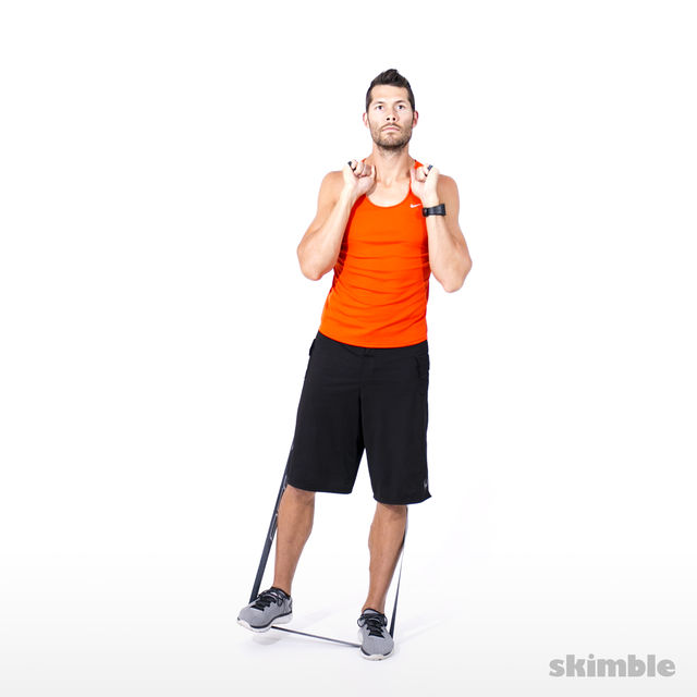 How to do: Right Leg Lateral Raise with Band - Step 4