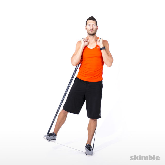 How to do: Right Leg Lateral Raise with Band - Step 5
