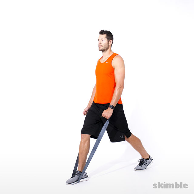 How to do: Split Squats with Band - Step 1