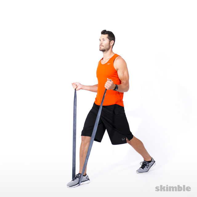 How to do: Split Squats with Band - Step 2