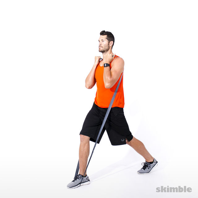 How to do: Split Squats with Band - Step 3