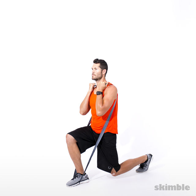How to do: Split Squats with Band - Step 4